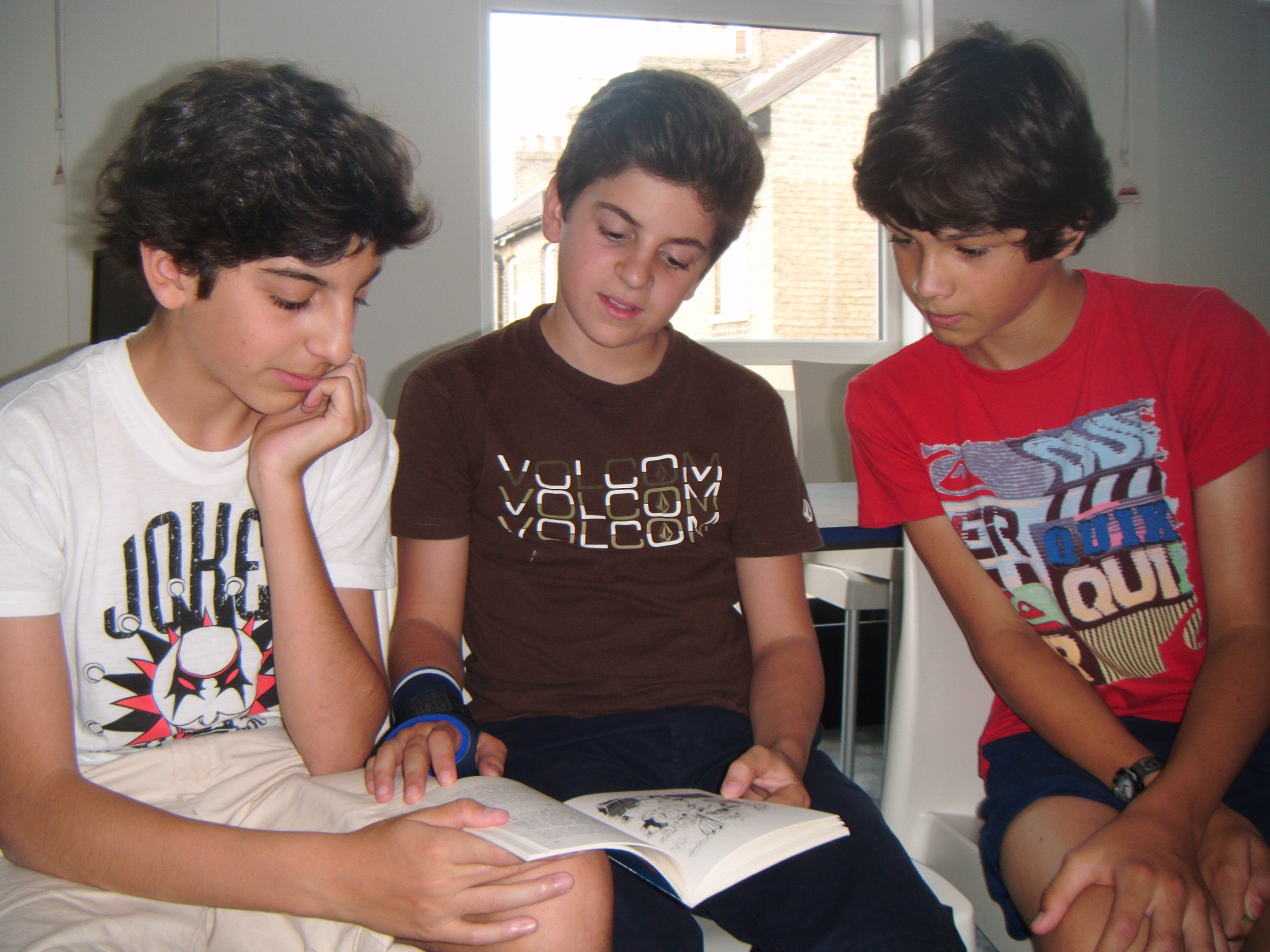 3 boys in classroom