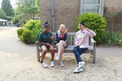 Chatting on bench
