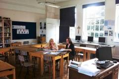 Private study in classroom