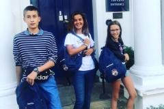 Students at entrance