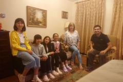 Students with host family