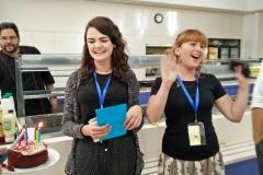 Teachers in canteen