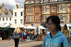 girl in market square